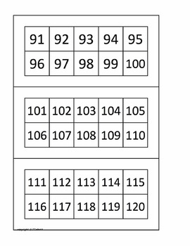 TEN FRAME TRAIN 1-120