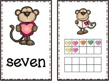 Valentine's Day Ten Frames and Matching Game