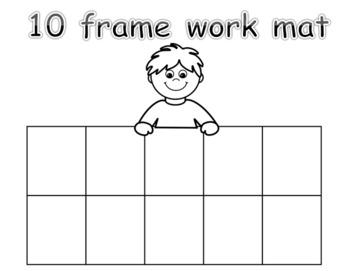 TEN FRAME WORK MATS