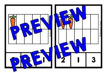 CARROT TEN FRAMES ACTIVITIES (CLIP CARDS) COUNTING CENTERS FOR KINDERGARTEN