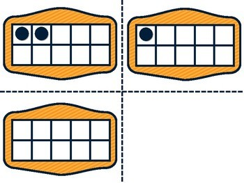 TEN FRAMES ADDITION CARDS