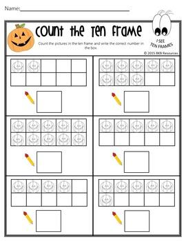 Halloween Ten Frames ● Halloween Activities ● No Prep ●Worksheets ● Math