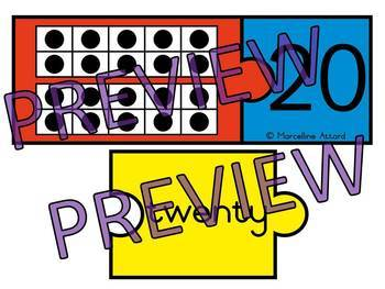 10 FRAMES ACTIVITIES: TEN FRAMES PUZZLES WITH NUMBER WORDS & NUMERALS