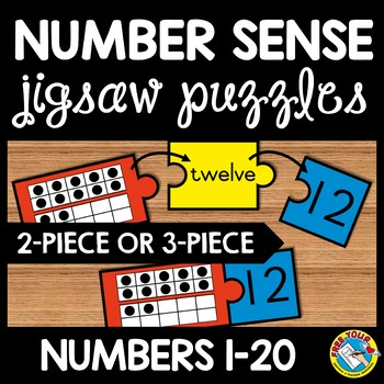 10 FRAMES ACTIVITIES: TEN FRAMES PUZZLES WITH NUMBER WORDS