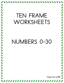 TEN FRAMES NUMBERS 0-30