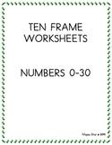 TEN FRAMES NUMBERS 0-30