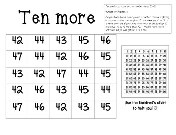 TEN MORE-DIFFERENTIATED MATH GAME-FREEBIE!!