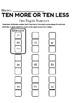 TEN MORE OR TEN LESS 2 DIGIT NUMBERS WORKSHEET