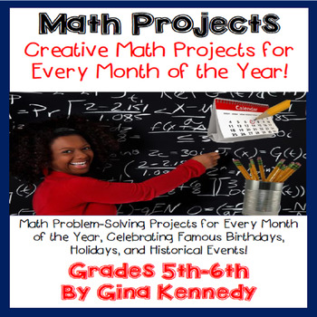 Math Enrichment Projects for the Entire Year! Instant Homework Projects, BUNDLE!