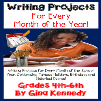 Creative Writing Projects for Every Month! Writing Homework for the Entire Year!