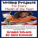 """Writing Projects """"BUNDLE"""", HOMEWORK for Every Month of the Year!"""