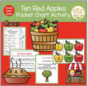 TEN RED APPLES POCKET CHART ACTIVITY