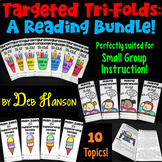 Reading Skills Bundle: TEN Sets of Tri-folds Targeting Rea