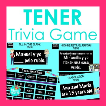TENER Jeopardy-Style Trivia Game