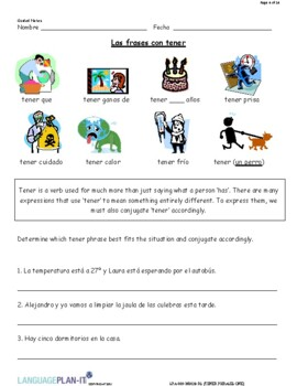 TENER PHRASES REVIEW I (SPANISH 2016 EDITION)