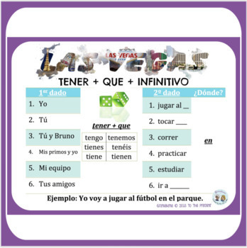 TENER + QUE + INFINITIVO Take LAS VEGAS * a Speaking & Writing Practice Activity