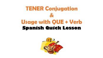 TENER: Spanish Quick Lesson
