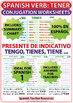 TENER - Spanish Verb Conjugation Worksheets - Present Tense