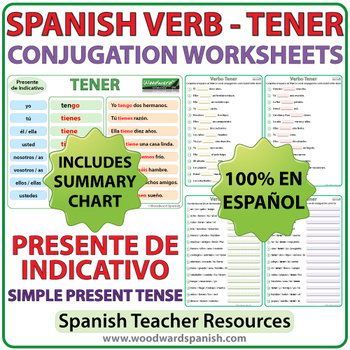 Spanish Verb Chart All Conjugations Worksheets Teaching