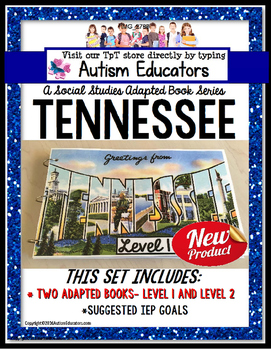 TENNESSEE State Symbols ADAPTED BOOK for Special Education