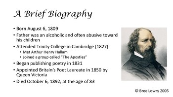 TENNYSON, ALFRED LORD - POETRY UNIT