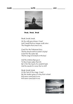 "TENNYSON POEM ANALYSIS- ""Break, Break, Break"""