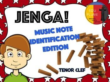 TENOR CLEF - JENGA (NOTE IDENTIFICATION)