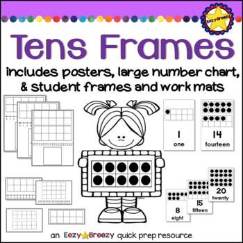 TENS FRAMES posters and work mats by Eezy-Breezy | TpT