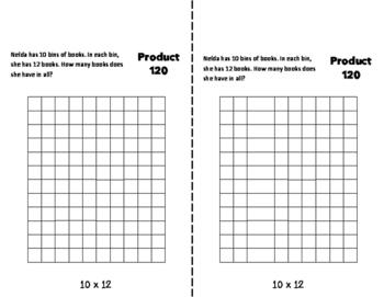 TENS Multiplication Fact Fluency Flip Book: Grades 3-5
