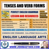 TENSES AND VERB FORMS : LESSON AND RESOURCES