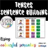 TENSES sentence building: past, present, future colorful s