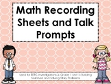 TERC Investigations 3: Grade 1 Unit 1 Recording Sheets and Talk Prompts