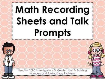 TERC Investigations 3: Grade 1 Unit 1 Recording Sheets and Talk Prompts