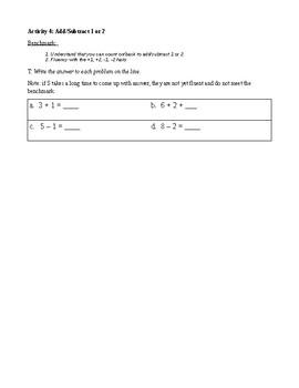 1st Grade TERC Investigations Unit 1 Pre-Assessment