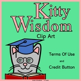 TERMS OF USE and CREDIT BUTTON for All Kitty Wisdom Clip A