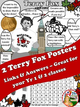TERRY FOX POSTERS - 2 Choices - 8 pages