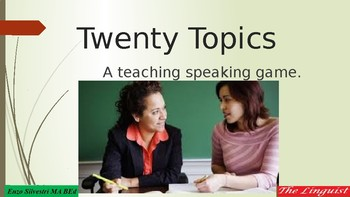 TESIL_Teach Speaking-20 Questions