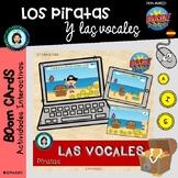 TESORO de LAS VOCALES piratas - Boom Cards Distance Learning