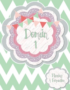 Teacher Evaluation Evidence Binder - Charlotte Danielson Model - Mint Chevron