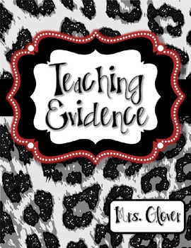 Teacher Evaluation Evidence Binder - Charlotte Danielson Model - Glitter Leopard