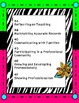 Teacher Evaluation Evidence Binder - Charlotte Danielson Model - Zebra Neon
