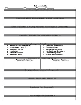 TESSinspired Lesson Plan Template By Everyones Favorite Math Teacher - Fillable lesson plan template