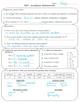 TEST Algebraic Expressions Formative Summative Assessment