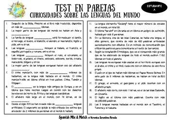 TEST DE CURIOSIDADES SOBRE LAS LENGUAS DEL MUNDO