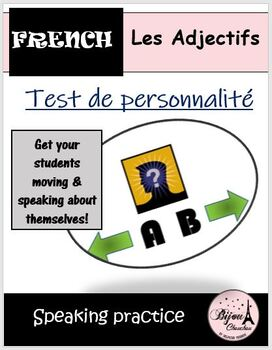 TEST DE PERSONNALITE: Activity to review French adjectives