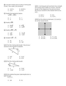 TEST (Exponents & Roots)