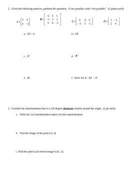 TEST - Matrices