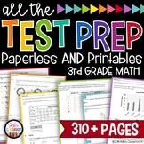 Math Test Prep Bundle   3rd Grade Test Prep - SBAC, STAAR, MAP Test, etc.
