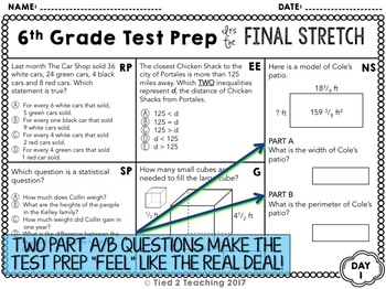 Math Test Prep: 6th Grade