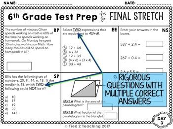 Math Test Prep: 6th Grade